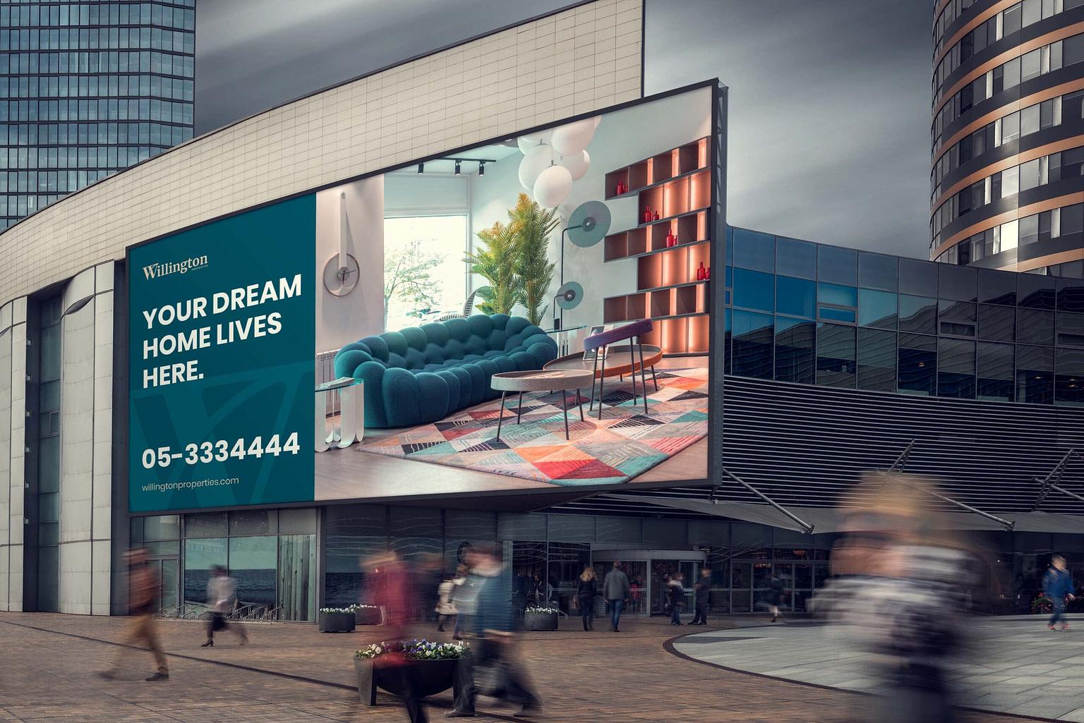 real estate billboard mockup